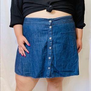 Dresses & Skirts - Plus Size Denim Flare Skirt